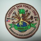 US NAVY - LOGISTIC TASK FORCE ONE - OEF 2011-2012 (NAVELSG) MILITARY PATCH