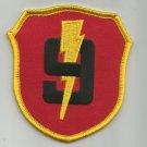 UNITED STATES MARINE CORPS 9th MARINE REGIMENT  -  MILITARY PATCH - USMC