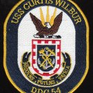 USS Curtis Wilbur DDG-54 Guided Missile Destroyer Patch