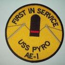 USS PYRO AE-1 AMMUNITION SHIP MILITARY PATCH