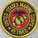 UNITED STATES MARINE CORPS RETIRED MILITARY PATCH - USMC