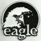 BLACK & WHITE EAGLE MOTORCYCLE JACKET BIKER VEST MORALE MILITARY PATCH