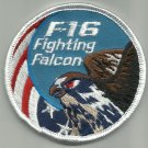 USAF F-16 FIGHTING FALCON UNITED STATES AIR FORCE AIRCRAFT MILITARY PATCH