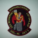 HSL-46 Patch Navy Helicopter Squad Det 3 Disposable Heroes FFG-8 USS McInerney