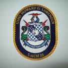 T-AGM 25 USNS HOWARD O LORENZEN Missile Range InstrumentationShip Military Patch