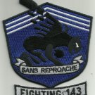 NAVY VF-143 Aviation Fighter Squadron FIGHTING 143 Military Patch PUKIN' DOGS