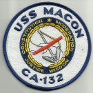 USS MACON CA-132 HEAVY CRUISER SHIP MILITARY PATCH CONSTITUTION MODERATION