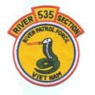 535 US Navy River Patrol Section Vietnam Military Patch