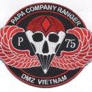 Papa Co Rangers Regiment DMZ Vietnam Military Patch