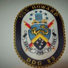 DDG-83 USS HOWARD Guided Missile Destroyer Military Patch READY FOR VICTORY