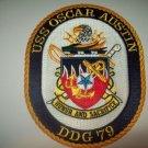 DDG-79 USS OSCAR AUSTIN Guided Missile Destroyer Military Patch SHIP CREST