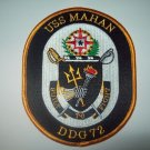 DDG-72 USS Mahan Military Patch Guided Missile Destroyer Military Patch