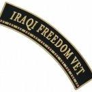 LARGE IRAQI FREEDOM UPPER TOP ROCKER MOTORCYCLE JACKET BIKER MILITARY BACK PATCH