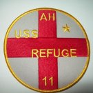 AH-11 USS Refuge Hospital Ship Military Patch