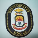 USS Gonzalez DDG-66 Guided Missile Destroyer Military Patch BEYOND THE CALL