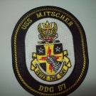 DDG-57 USS Mitscher Military Patch Guided Missile Destroyer Insignia