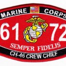 "USMC ""CH-46 CREW CHIEF"" 6172 MOS MILITARY PATCH SEMPER FIDELIS MARINE CORPS"