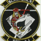 US NAVY HX-21 AIR TEST AND EVALUATION SQUADRON TWO ONE MILITARY PATCH BLACKJACK