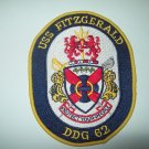 USS Fitzgerald DDG 62 Guided Missile Destroyer Insignia MILITARY PATCH