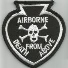 ARMY AIRBORNE DEATH FROM ABOVE SPADE BIKER VEST JACKET MILITARY PATCH