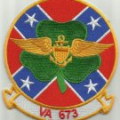 NAVY VA-673 Reserve Attack Squadron SIX SEVEN THREE Military Patch REBEL CLOVER