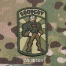GOODGUY MULTICAM TACTICAL BADGE BLACKOPS MORALE PVC RUBBER VELCRO MILITARY PATCH