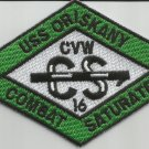 CVA-34 USS ORISKANY CARRIER AIR WING CVW-16 Military Patch COMBAT SATURATED GREN