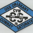 CVA-34 USS ORISKANY CARRIER AIR WING CVW-16 Military Patch COMBAT SATURATED BLUE