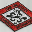 CVA-34 USS ORISKANY CARRIER AIR WING CVW-16 Military Patch COMBAT SATURATED RED