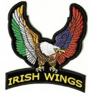 IRISH WINGS UPWING EAGLE MOTORCYCLE BIKER LEATHER JACKET VEST MILITARY PATCH