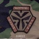 TRIGGER PULL LOGO FOREST TACTICAL COMBAT BADGE MORALE VELCRO MILITARY PATCH