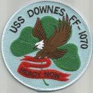 USS DOWNES FF-1070 KNOX CLASS FRIGATE SHIP MILITARY PATCH - READY NOW