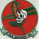 US NAVY VA-155 Attack Squadron ONE FIVE FIVE Military Patch COBRA SKULL