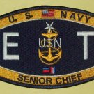 Technical Deck Rating Electronics Technician Senior Chief Military Patch ETCS