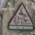 BASIC FOOD GROUPS MULTICAM TACTICAL COMBAT BADGE MORALE VELCRO MILITARY PATCH