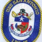 LPD-17 USS San Antonio Dock Landing Ship Military Patch NEVER RETREAT SURRENDER