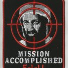 MISSION ACCOMPLISHED 5-1-11 BIN LADEN MOTORCYCLE BIKER JACKETVEST MILITARY PATCH