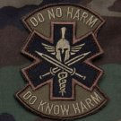 DO NO HARM SPARTAN FORST TACTICAL COMBATMEDIC BADGE MORALE VELCRO MILITARY PATCH
