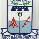 USS MARVIN SHIELD FF-1066 KNOX CLASS FRIGATE SHIP MILITARY PATCH CAN DO