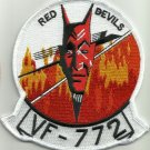 US NAVY VF-772 Reserve Fighter Squadron SEVEN SEVEN TWO Military Patch RED DEVIL
