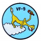 VF-9 US NAVY Aviation Fighter Squadron Military Patch CAT O' NINES