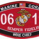 "USMC ""WIRE CHIEF"" 0619 MOS MILITARY PATCH SEMPER FIDELIS MARINE CORPS"