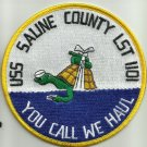 NAVY USS SALINE COUNTY LST 1101 TankLanding Ship Military Patch YOU CALL WE HAUL