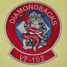 VF-102 US Navy Aviation Fighter Squadron Military Patch TOMCAT DIAMONDBACKS
