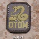 DTOM DESERT DONT TREAD COMBAT TACTICAL BADGE MORALE PVC VELCRO MILITARY PATCH