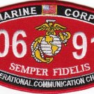 "USMC ""OPERATIONAL COMMUNICATIONS CHIEF"" 0691 SEMPER FIDELIS MILITARY MOS PATCH"