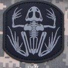 SKELETON FROGMAN SWAT TACTICAL COMBAT BADGE MORALE PVC VELCRO MILITARY PATCH