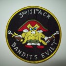 "3rd BN / 11th ARMORED CAVALRY REGIMENT - BANDITS EVIL ""1"" US ARMY MILITARY PATCH"