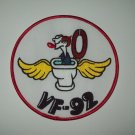 VF-92 US NAVY Aviation Fighter Squadron MILITARY PATCH - SAILOR IN FLYING TOILET