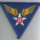 12th AIR FORCE - ARMY MILITARY PATCH - Twelfth Air Force USAF